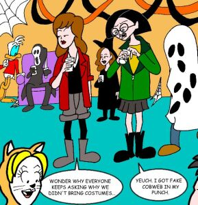 Daria and Jane's Halloween costumes