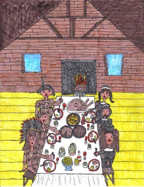 pilgrims on thanksgiving