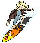 'Burnout Girl' catches a wave