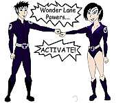Trent and Jane as the Wonder Twins
