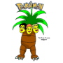 The 3 Js as an Exeggutor, from 'Pokemon'